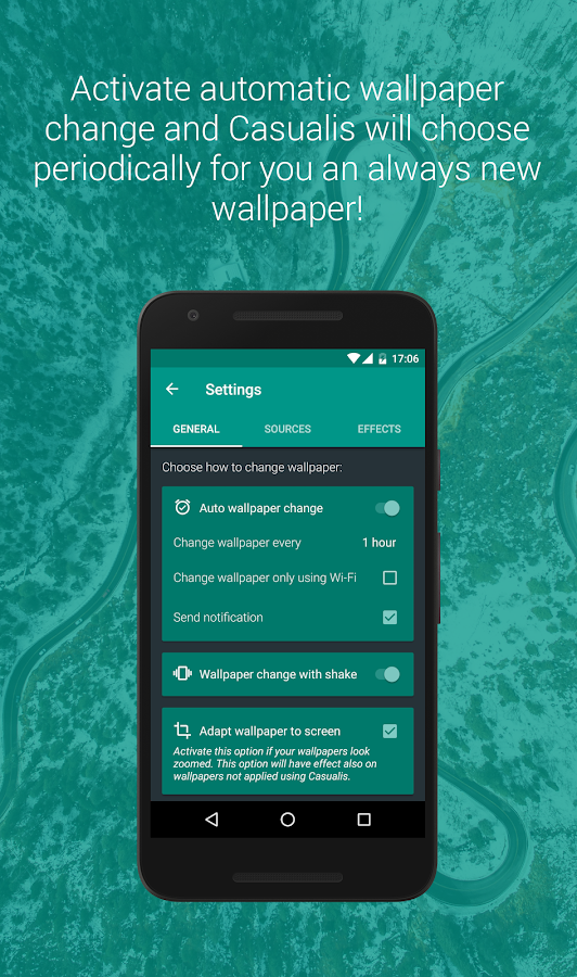 Casualis:Auto wallpaper change- screenshot