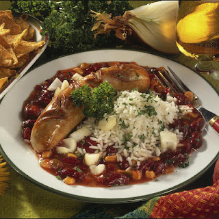Sausage with Kidney Beans.