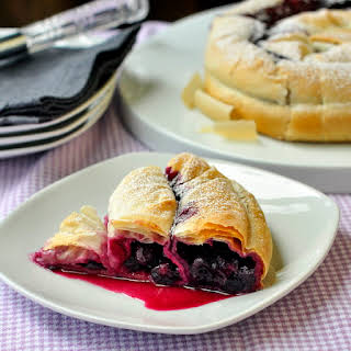 Blueberry Phyllo Snake Pie.