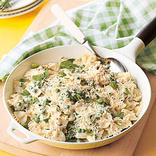 Farfalle with Ricotta, Mint and Peas