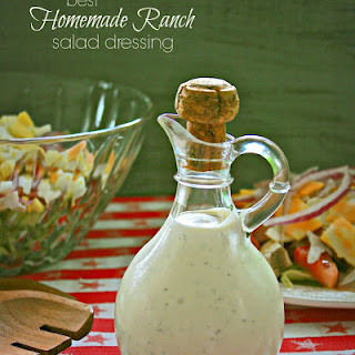 Homemade Ranch Salad Dressing.