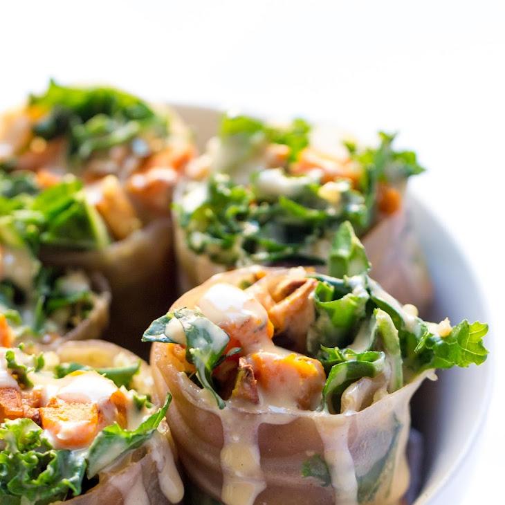 Sweet Potato, Kale + Quinoa Spring Rolls Recipe | Yummly