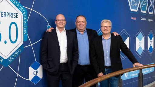 From left: Eric van der Merwe (CFO), Tertius Zitzke (CEO), Willie Ackerman (CSMO).