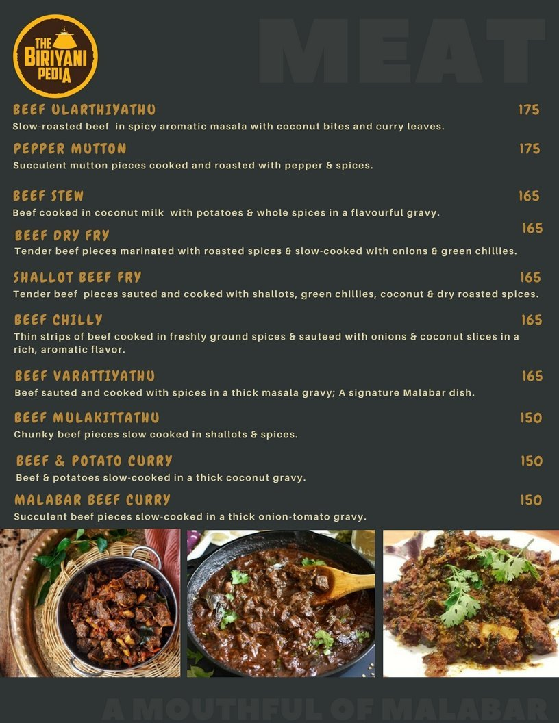 The Biriyani Pedia menu 2