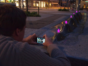 "Photo: Fabian taking a photo of the ""Lago Montagna"" fountain"