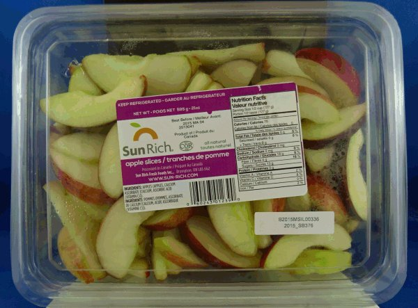 Sun Rich - apple slices - 595 gram