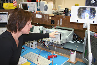 Photo: Conducting tests on radios at the radio cache at NIFC.