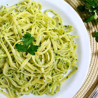 Parsley Pesto Pasta.