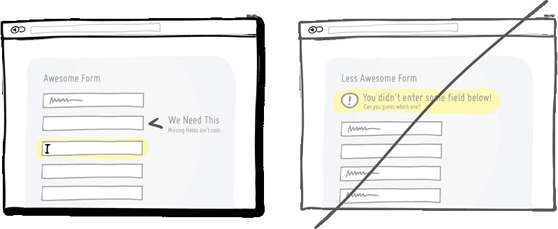 Попробуйте встроенную валидацию вместо отложенных сообщений об ошибках