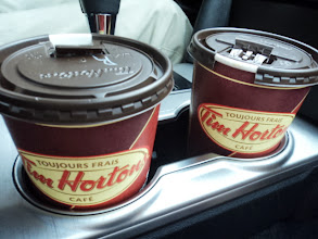 Photo: And we had to get some Tim Horton's coffee. It's not Wawa but it will do :)