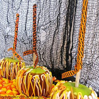 Candy Corn Caramel Apples