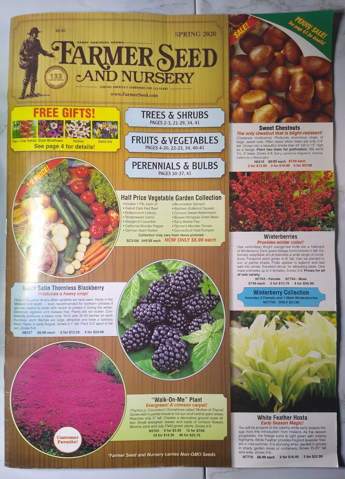 Farmer Seed and Nursery catalog picture