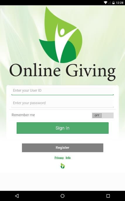 Online Giving- screenshot
