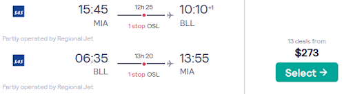 🔥 Miami to Billund, Denmark for only $273 roundtrip