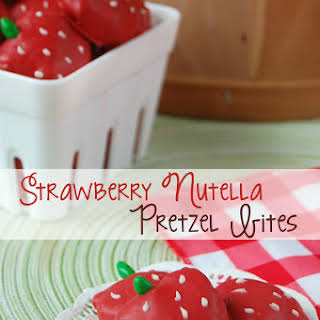 Strawberry Nutella Pretzel Bites.