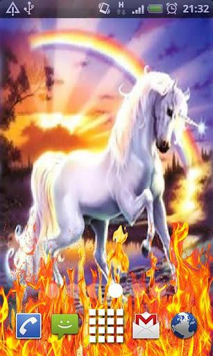 unicorns rainbow LiveWallpaper