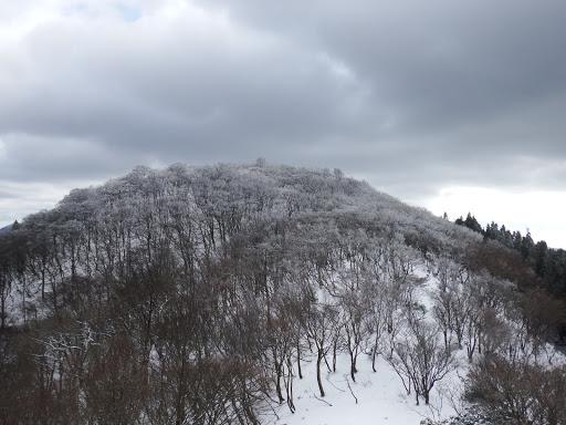 水舟ノ頭を振り返る(霧氷)