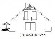 Domek Nieduży mini - Elewacja lewa