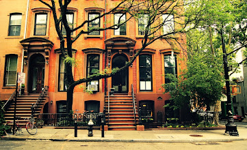 """Photo: """"Trees grow in Brooklyn.""""   Cobble Hill, Brooklyn. New York City.  View the writing that accompanies this post here at this link on Google Plus:  https://plus.google.com/108527329601014444443/posts/WzTvCFGVVuj  View more New York City photography by Vivienne Gucwa here:  http://nythroughthelens.com/"""