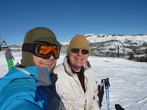 Photo: Dad and I skiing up at Boreal