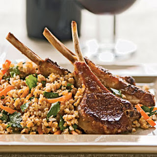 Lamb Chops With Lemony Bulgur