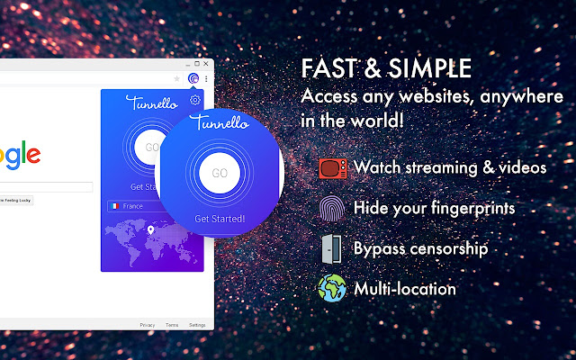 Tunnello VPN - Unblock, Ultra-Fast & Secure!