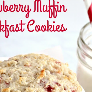 Strawberry Muffin Breakfast Cookies.