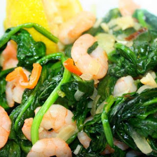 Caribbean Spinach With Shrimp Recipe.