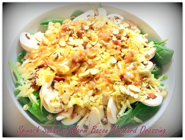 Spinach Salad With Warm Bacon Mustard Dressing Recipe