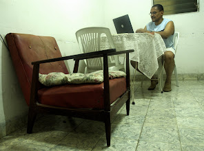Photo: jorge olivera, cuban dissident, writer. Tracey Eaton photo