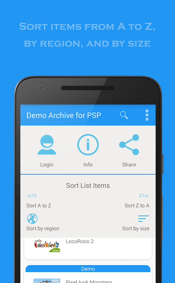 Demo Archive for PSP- screenshot