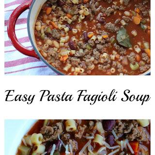 Easy Pasta Fagioli Soup.