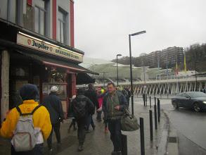 Photo: terug bij het vertrekpunt Brasserie du Midi tegenover het treinstation Luik-Guillemins, einde van een mooie en zware tocht