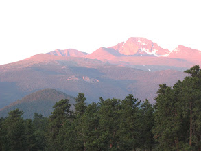 Photo: First morning in Rocky Mountain National Park after many years away - Long's Peak with The Diamond showing