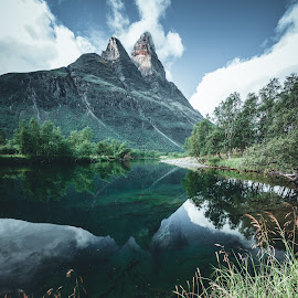 MT Otertind by Vivian Ebeltoft - Landscapes Mountains & Hills ( mountain, view, otertind, norway, river, landscape, colors )
