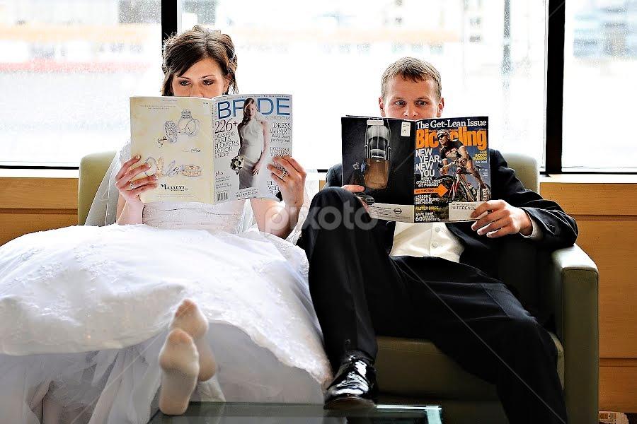 by Melissa Papaj - Wedding Bride & Groom
