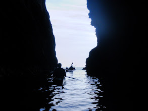 Photo: In one of the many caves