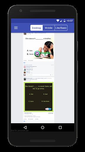 Mode for Facebook 1.2 screenshots 1