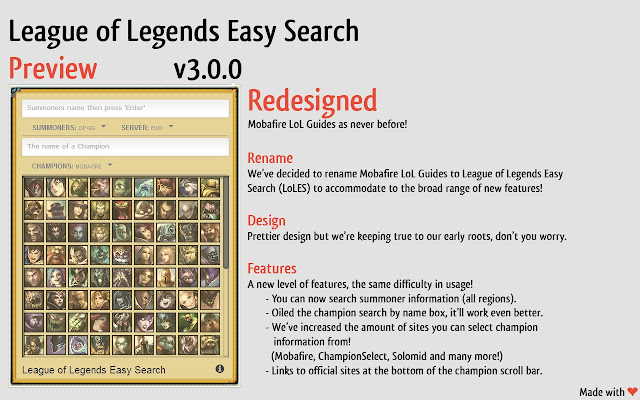 League of Legends Easy Search