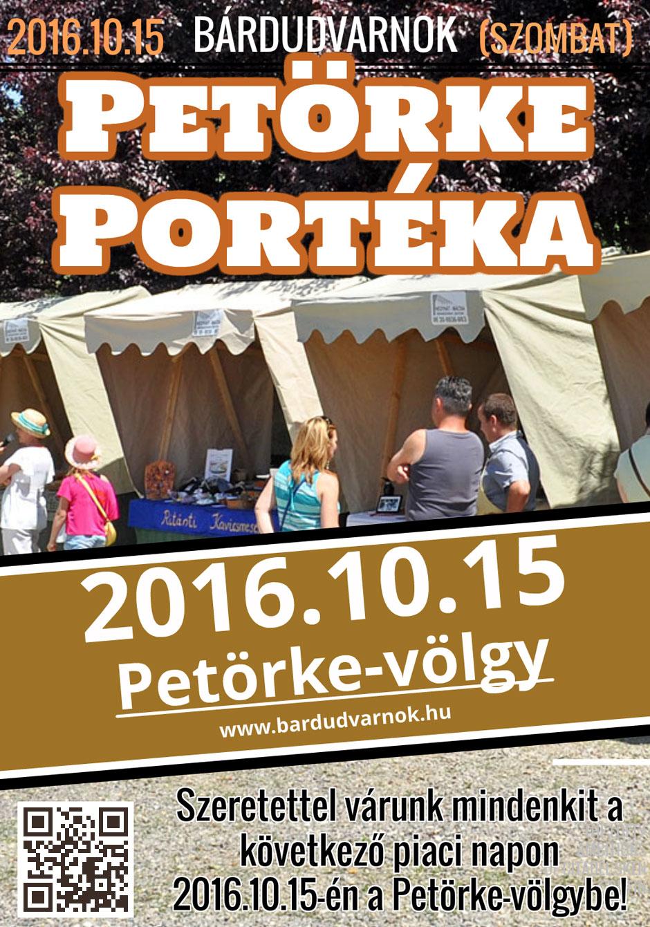 Petörke Portéka plakát Bárdudvarnok 2016