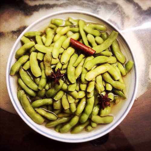 Spiced, Edamame, Soybeans,  毛豆, chinese, recipe