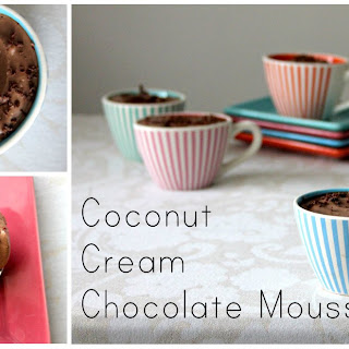 Silky Coconut Cream Chocolate Mousse.