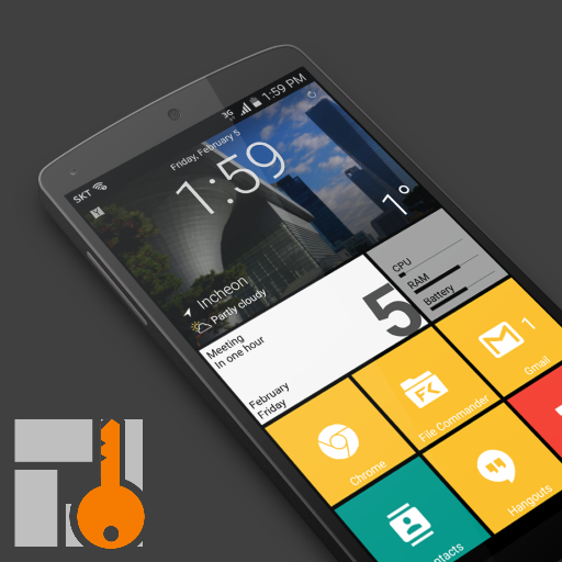 SquareHome Key - Launcher: Windows style