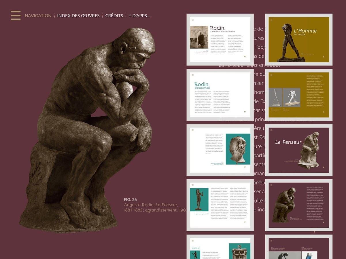 Rodin, l'e-album- screenshot