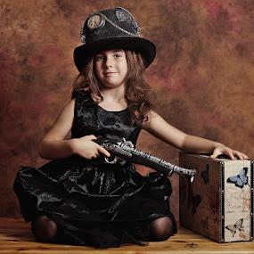 Steampunk hat by Nicu Buculei - Babies & Children Child Portraits ( girl, children, kids, steampunk, portrait )
