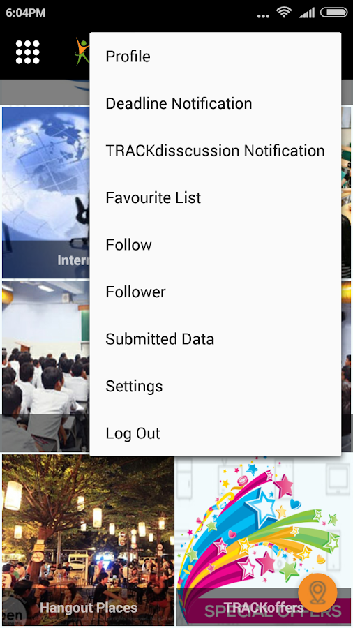 Trackampus- screenshot