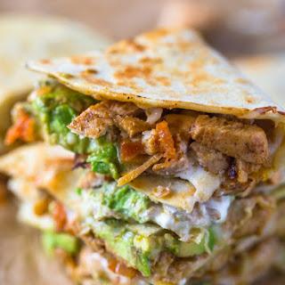 Chicken Avocado Quesadillas.