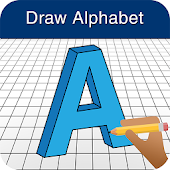 How to Draw 3D Alphabet Letter