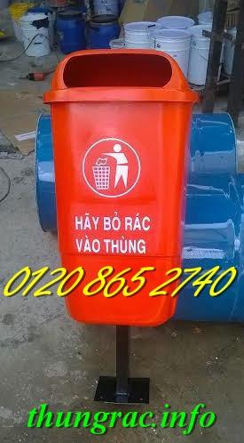 Thùng rác treo 50 lít nhựa composite