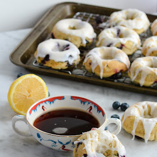 Gluten Free Lemon Blueberry Donuts